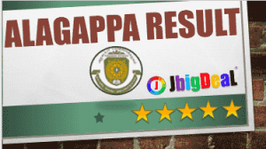 Alagappa University Result 2018 UG and PG Exam