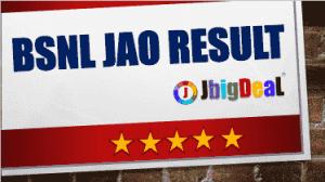 BSNL JAO Result 2018