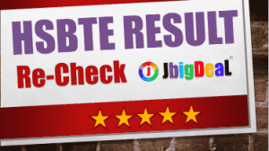 HSBTE Rechecking Exam Result 2018