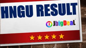 HNGU Result 2018 Patan