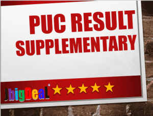 2nd PUC Supplementary Results 2018 Karnataka
