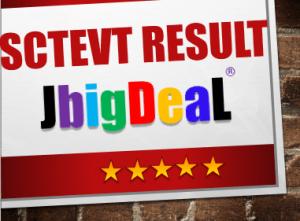 SCTEVT Result 2019