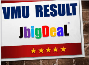 VMU Results 2018 vmrf.edu.in