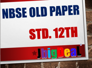 NBSE 12th Class Old Question Paper